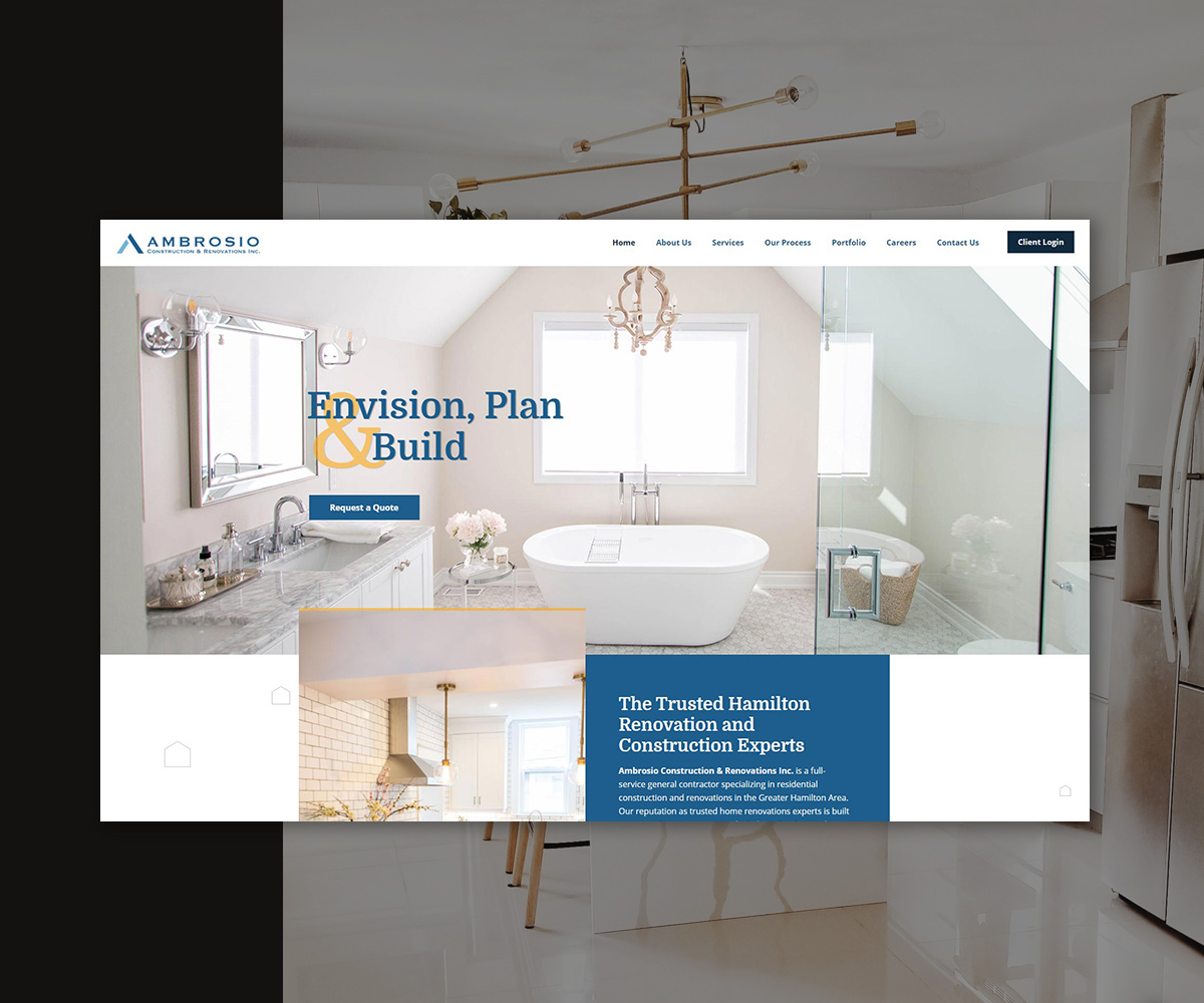 Ambrosio Construction & Renovations Website
