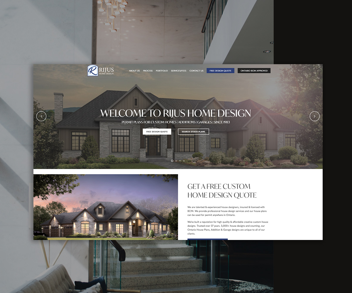 Rijus Home Design Website